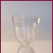 SOLD Large Ringed Glass Double Egg Cup