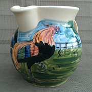 Iden Pottery English Rooster Pitcher / Jug for Colonial Williamsburg