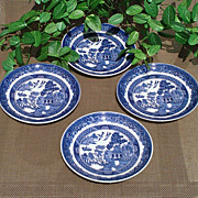SALE PENDING Johnson Brothers Blue Willow Saucer Set of 4