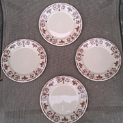 Syracuse China Adobe Ware Set Urn / Scrolls / Fruit Basket Pattern