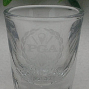 PGA World Golf Hall of Fame Etched Shot Glass Libbey