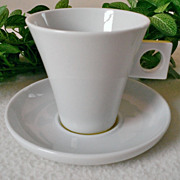 Nescafe Dolce Gusto Cappuccino White/Yellow Cup & Saucer Set