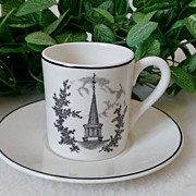 SOLD Ohio University Demitasse Cup & Saucer Set by Wedgwood