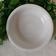 Homer Laughlin Fiesta Ware White Coupe / Soup Bowl