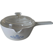 SOLD Corning Cornflower  Blue 2.5 Cup Saucepan with Lid P-89-B
