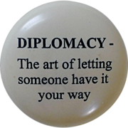 """""""Diplomacy"""" Etched Paperweight"""