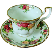 SOLD Royal Albert Old Country Roses Cup and Saucer Set