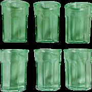 Anchor Hocking Green Flat Panel Tumbler Set Pattern AHC65