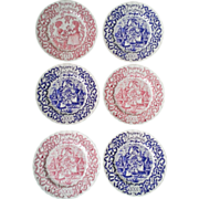Royal Crownford Christmas Plate Set of 6