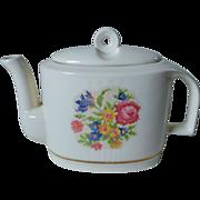 Harker Potteries Bakerite Petit Point Teapot 22K