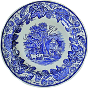 Spode Blue Room Collection - Rural Scenes Plate
