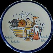 Louisville Stoneware Noah's Ark Decorative Pottery Plate