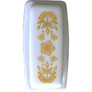 Pyrex Butterfly Gold Covered Butter Dish