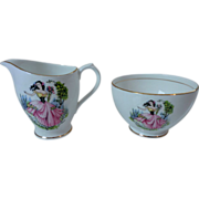 Duchess China Dainty Miss Creamer & Sugar Set