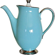 SOLD Taylor Smith Taylor Platinum Blue Coffee Pot & Lid
