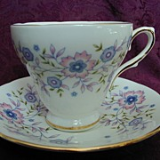 Avon Blue Blossoms Cup & Saucer 1974