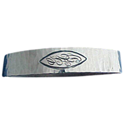 Unusual Oval Hammered Sterling silver Napkin Ring