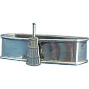 Sterling Silver Napkin Ring with Butter Churn