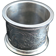 SALE Large and Heavy Sterling silver Napkin Ring by Gorham