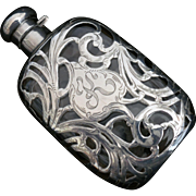 Sterling silver Overlay Lady's Flask