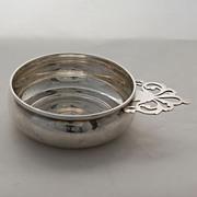 SALE Sterling Silver Lunt Porringer Bowl Pierced Handle Hand Wrought Vintage