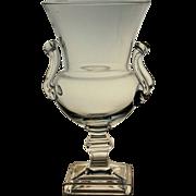 MCM Vintage Duncan Miller Vase Crystal Grecian Urn Mid Century Modern Design
