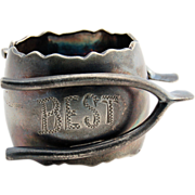 Figural Silver Napkin Ring by Toronto Silver Plate Company circa 1890