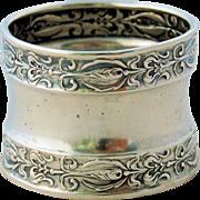 Vintage Sterling Silver Napkin Ring Repousse Design Number 2698