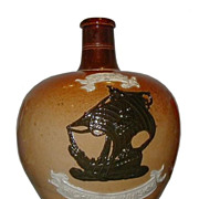 Rare Antique Doulton Lambeth Pottery Special Highland Whiskey Jug
