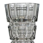 Unusual Antique Moser Art Deco Crystal Vase