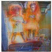 Original Carol Carter Expressionist Art Painting Belle Glade Florida