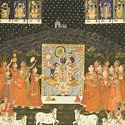 Huge India Hindu Painting on Cloth