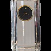 Superb Movado Modern Art Deco Crystal Clock