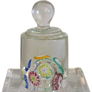 Unusual Vintage Murano Italian Art Glass Knob Paperweight