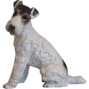 Rare Rosenthal Porcelain Wire Haired Terrier Dog Figurine
