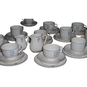 Rare Art Deco Royal Doulton Bone China Ocean Liner Cruise Ship Tea Set  Lloyd's