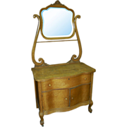 SALE 1376 19th C. Dresser with Over Mirror