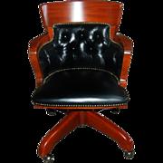 2247 American Mahogany Swivel Chair