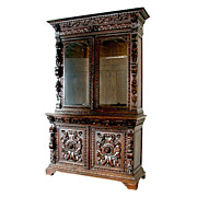 SALE 4916 Monumental Antique 19th Louis XVI Style Display Cabinet
