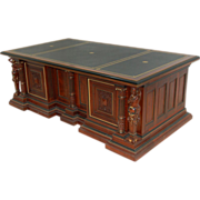 SALE 4974 Figural Carved Executive Desk