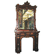 SALE 5297 19th century American Renaissance Revival Incredible Quality Mantle and Overmirror