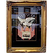 SALE 5314A American Eagle & Flag Military Embroidery