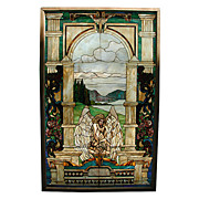 SALE 5839 Beautiful Stained Glass Window with Angelic Motif