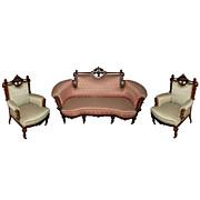 SALE 6098 American Renaissance Carved Rosewood Parlour Suite c. 1870