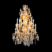 SALE 614 Magnificent early 19th C. crystal chandelier.