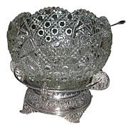 SALE 6289 19th C. American Eastlake Leaded Glass Punch Bowl