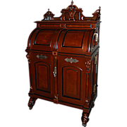 SALE 6456 Victorian Burled Walnut Standard Grade Wooton Desk