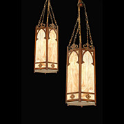 SALE 660 Contemporary American Victorian/Neo-Gothic Style Hanging Lanterns.