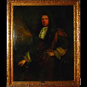 SALE 7358 17th C. Oil on Canvas Portrait of Sir John Morden