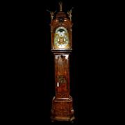 SALE 7367 Ornate Antique 18th C. Long Case Dutch Grandfather Clock